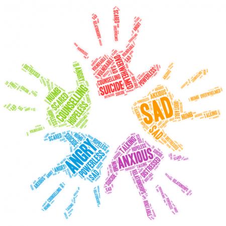 hands word art